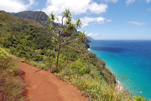 Kalalau Trail (and the beach we're hiking to)