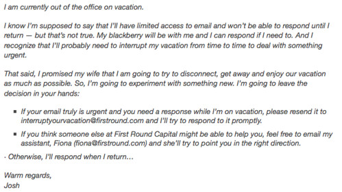 Funny + Creative Email Auto-Response for When You Don't Want to Work on Vacation