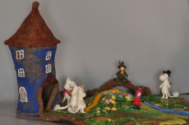 Needle felted Waldorf-Tove Janssen Moomin House-playgroung--needle felt by Daria Lvovsky