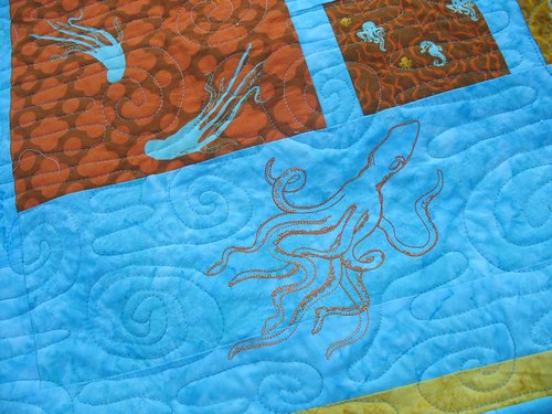 Octopus Quilt Closeup