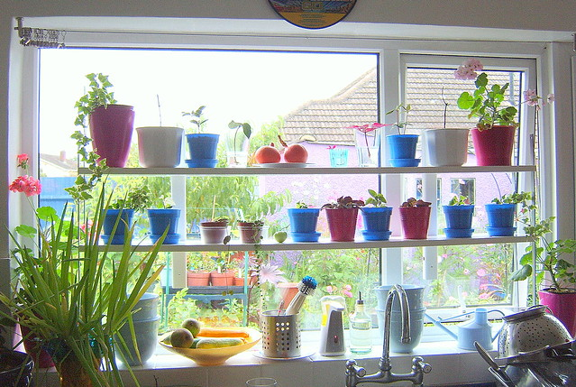 ikea hack - varde shelving for kitchen windowsill