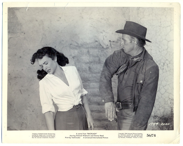 Donna Reed Richard Widmark funny slap