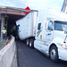 Semi stuck under Interstate 84 on Jordan Road