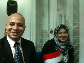 Ahmed Maher and Asamaa Mahfouz