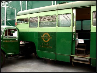 London transport 702B  Staff canteen (JXC 2) Bedford /Scammell.