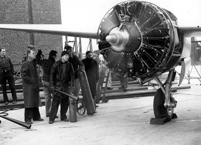 Grumman XP-50 Start Engine 1940
