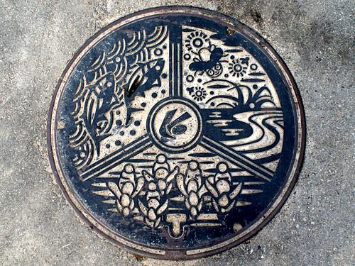 Kaiyo Tokushima manhole cover(徳島県海陽町のマンホール)