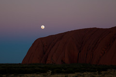 Full moon over Uluru