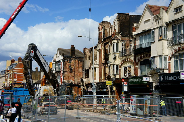 Croydon Riots - demolition