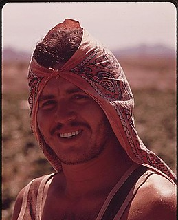 Mexican Farm Worker In The Imperial Valley. He Carries A Green Card Which Permits Him To Work On U.S. Farms, 05/1972