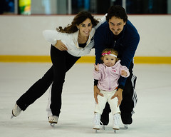Emme Porter, Bella Porter, Bruce Porter Jr ice skating at Kettler Capitals Iceplex (Bella Vita TV EmmeGirls Emme Girls)