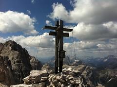 Gipfelkreuz Rotwandspitze Sexten