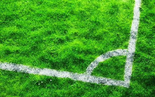 無料写真素材, スポーツ, 球技, サッカー, 緑色・グリーン, 芝生