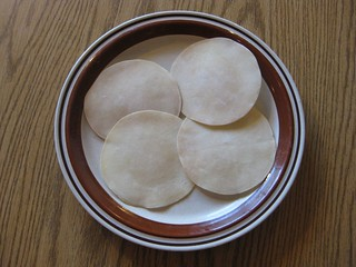 Appalams on a plate