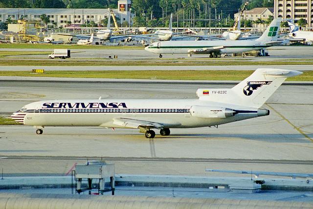 YV-823C Boeing 727-2D3 SERVIVENSA MIA 27JAN99