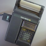 The Psion Printer II with Psion Organiser II LZ64