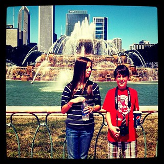 Kids at fountain. Maddie = Bershon