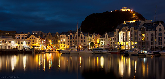 Late Evening in Ålesund Harbor