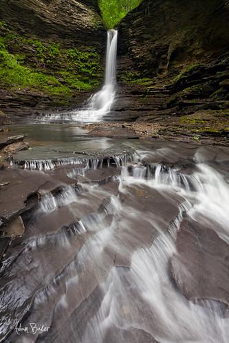 ny nature canon landscape waterfall spring hiking lush ferns cascade watkinsglen 1740l adambaker 5dmkii exelsiorglen