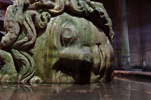 Istanbul - Medusa Head in the Basilica Cistern