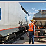 Southwest Chief refueling at Albuquerque NM