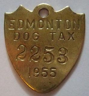 EDMONTON 1955 ---DOG TAX