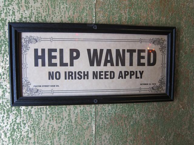 Help Wanted No Irish Need Apply Flickr Photo Sharing