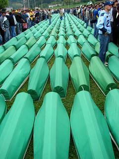 Coffins Prepared for Reburial - Srebrenica Memorial Ceremony - Potocari - Bosnia & Herzegovina - July 2007