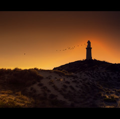 Bathurst Lighthouse in Silhouette