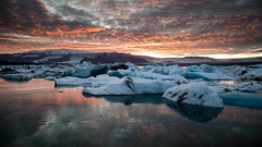 Jökulsárlon at Sunset by fuglsnef