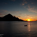 Midnight sun at Napp, Lofoten