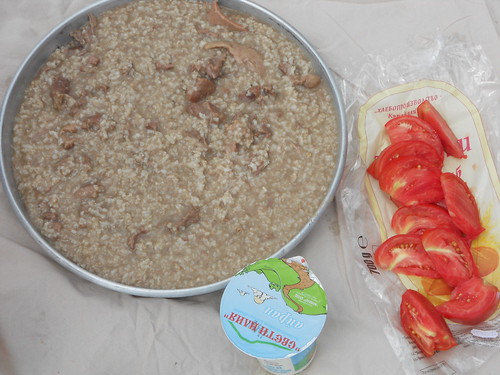 Keshkek, Ayran & tomatoes, Yayla (Rusalsko), Bulgaria
