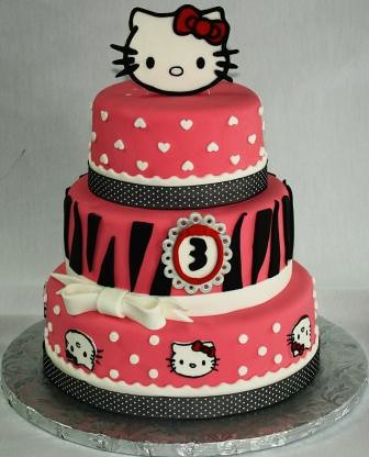 Hello Kitty 3Tiered 3rd Birthday Cake a photo on Flickriver