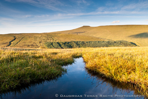 uk blue wild sky sun nature wet water beautiful grass weather wales landscape puddle golden evening high view mud walk altitude country wide hike fresh breconbeacons swamp late height penyfan soaked mounain penfawr