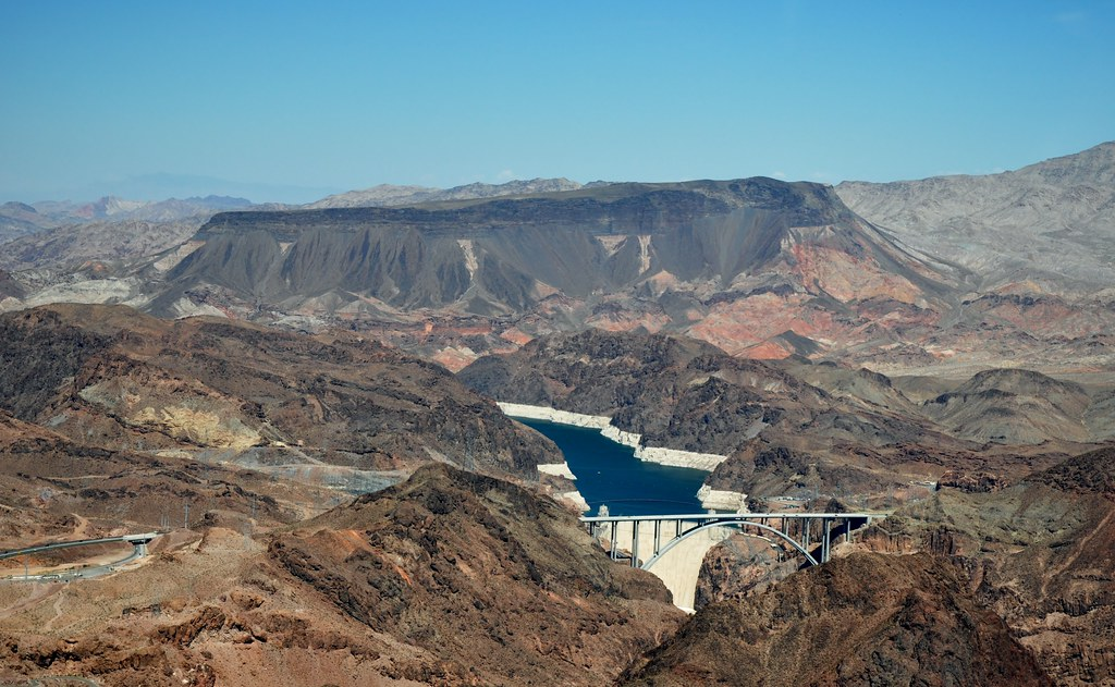 Grand Canyon - Lake Mead, Hoover Dam, Fortification Hill (an extinct volcano)