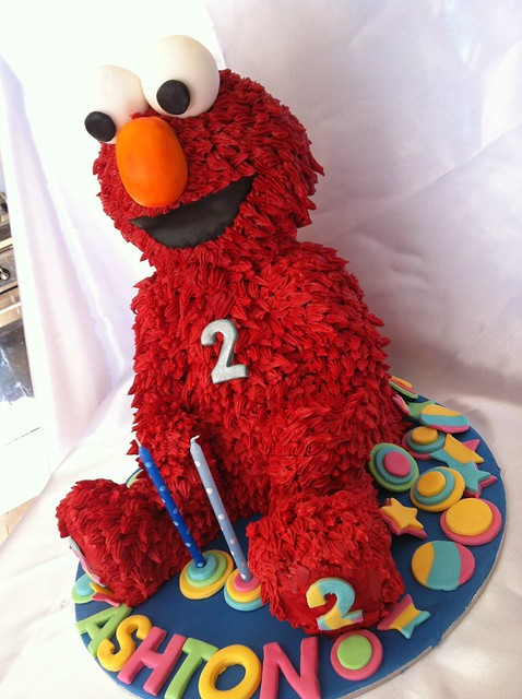 elmo 3d cakes