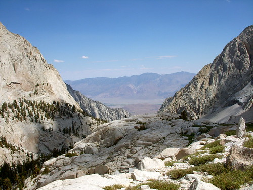 View Above Trail Camp, Mt Whitney