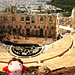 Ponyo and Odeon of Herodes Atticus at Acropolis of Athens, Greece