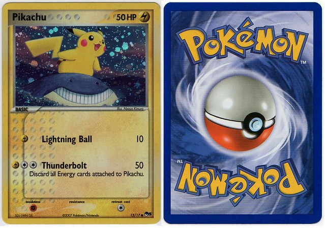 2007/March: DP Value Set 1 (Upside Down Error) | Name ... Wailmer Pokemon Card