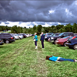 Face down with the pastured cars