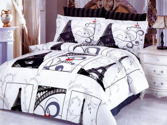 Eiffel Gray Duvet Bedding Set By Le Vele Flickr Photo Sharing