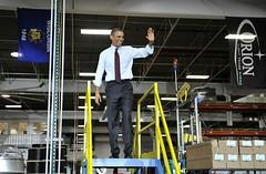Obama @Orion platform~Manitowoc Wi