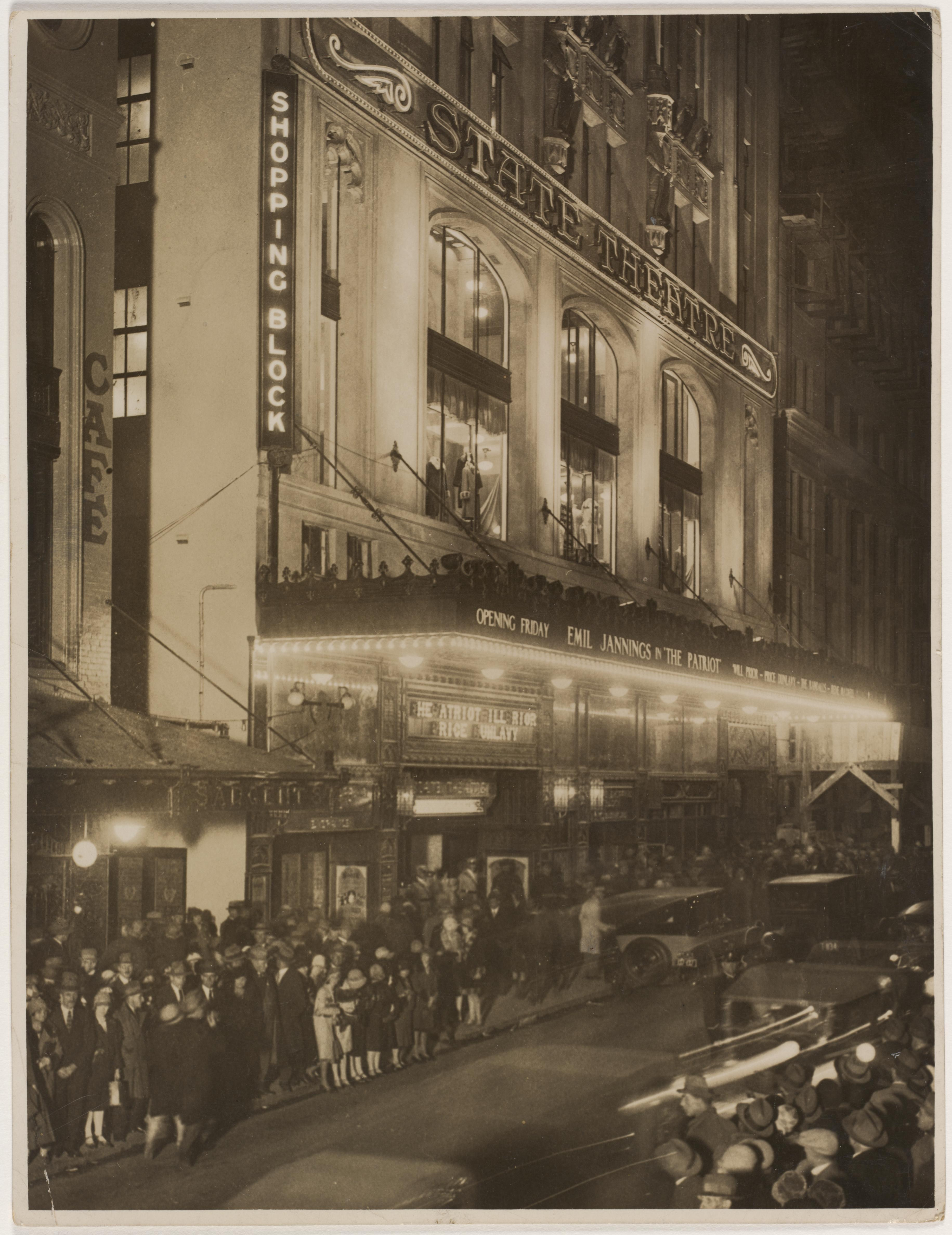 Australian premiere of The Patriot, starring Emil Jannings, at the opening of the State Theatre, Sydney, Friday 7 June 1929 / photographer unknown