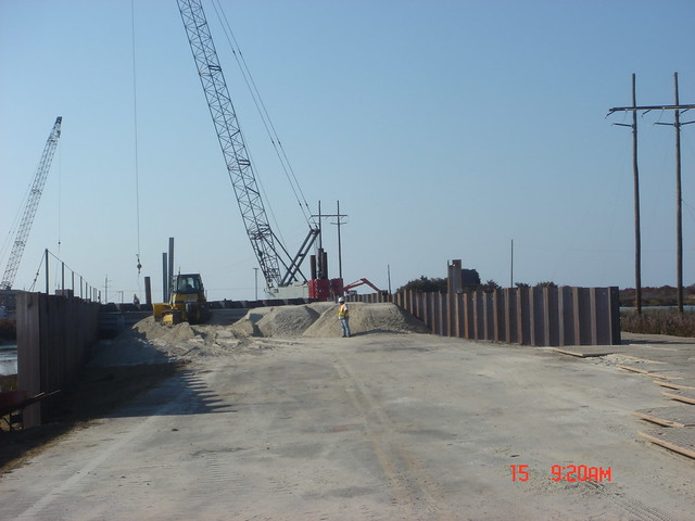 Portable Bridge Construction : Temporary bridge construction at pea island flickr