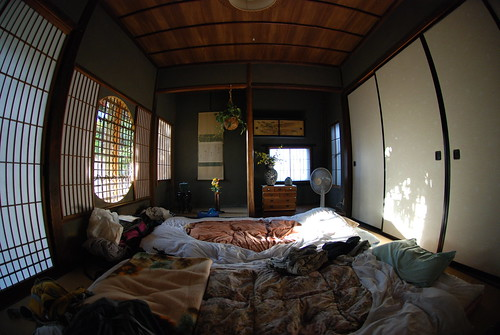 Our Japanese-style room in Zenkoji shukubo