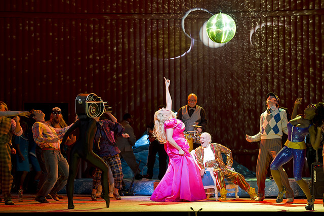 Eva-Maria Westbroek as Anna Nicole and Alan Oke as J.Howard Marshall in Anna Nicole © ROH/Cooper/ROH 2011