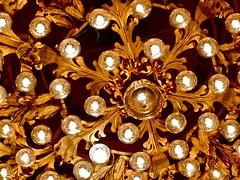 light fixture, chandelier, gold, lighting,
