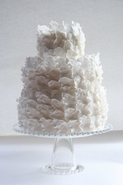 Feathers Wedding Cake