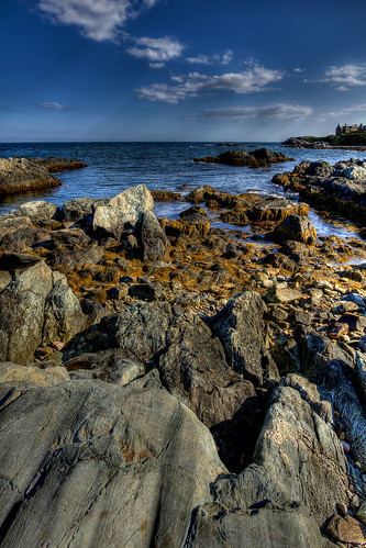 ocean rocks shoreline rhodeisland newport mansion cliffwalk handheldhdr