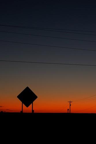 sunset monochrome silhouette
